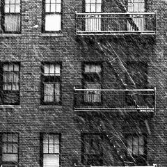 NYC snow, 161st street, 1967