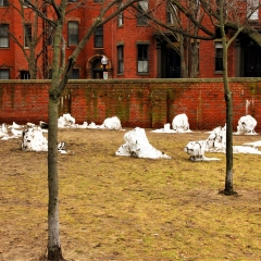 Disappearing snowmen, Boston