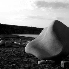 Nova Scotia glacial erratic